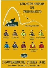 Leilão Super Training - Tattersall da Gávea - APPS - Raia Leve