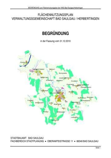 BEGRÜNDUNG - Stadt Bad Saulgau