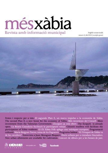 número 4 | abril 2010 | exemplar gratuït - Ajuntament de Xàbia