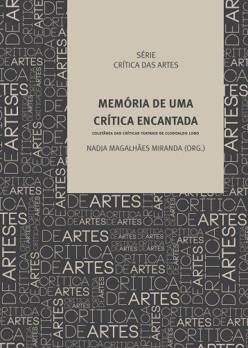 memória de uma crítica encantada - Fundação Cultural do Estado ...