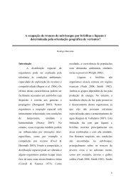 A ocupação de troncos de sub-bosque por briófitas e ... - PDBFF - Inpa
