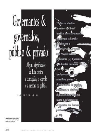 Alguns significados da luta contra a corrupção, o segredo e a ... - USP