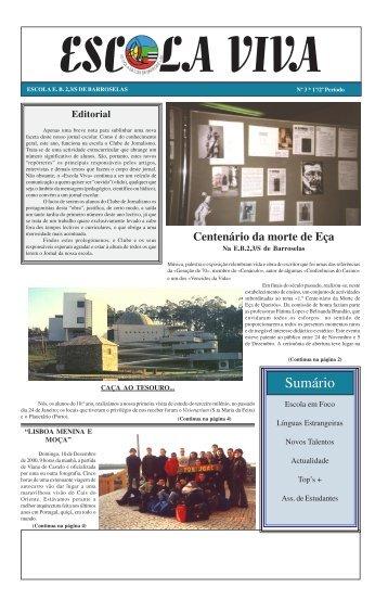 Sumário - Agrupamento de Escolas de Barroselas