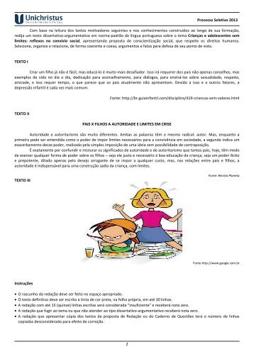 Prova de Conhecimentos Gerais - Espanhol - Centro Universitário ...