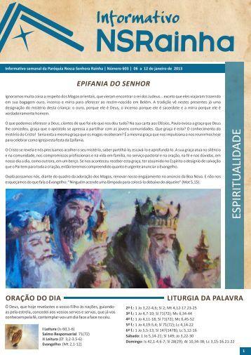 Informativo 603.pdf - PARóQUIA NOSSA SENHORA RAINHA