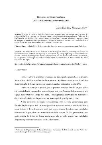 Reflexos da sócio-história - fflch - USP