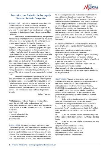 Período Composto - Projeto Medicina