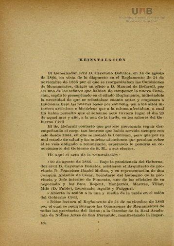 REINSTALACIÓN El Gobernador civil D. Cayetano Bonafós, en 14 ...