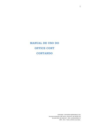 MANUAL DE USO DO OFFICE CONT CONTANDO