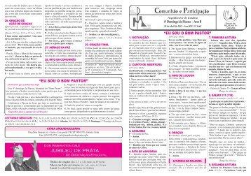 Folheto 29 de abril de 2012 (4º Domingo de Páscoa) - Arquidiocese ...