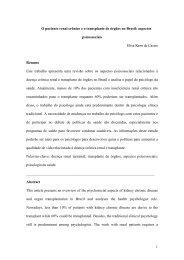 1 O paciente renal crônico e o transplante de órgãos no Brasil ...