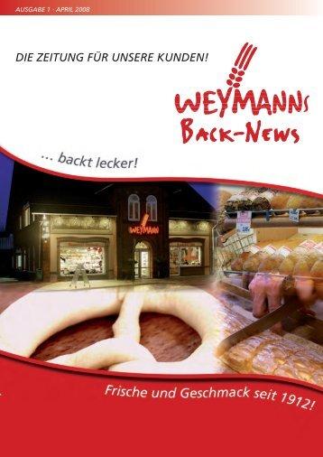 die zeitung für unsere kunden! - Bäckerei Weymann