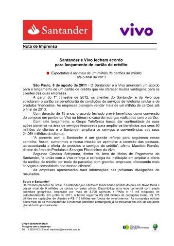 Nota de Prensa - Santander