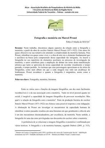 Fotografia e memória em Marcel Proust - ufrgs