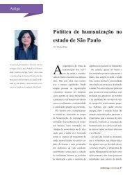 Política de humanização no estado de São Paulo - coren-sp