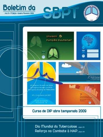 Janeiro/Fevereiro - Sociedade Brasileira de Pneumologia e Tisiologia