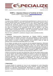 DORT's – Aspectos Clínicos na Tendinite de Ombro - IPOG