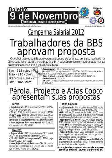 Boletim 853 - Sindicato dos Metalúrgicos da Região Sul Fluminense