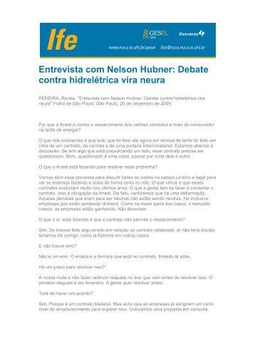 Entrevista com Nelson Hubner: Debate contra hidrelétrica ... - UFRJ