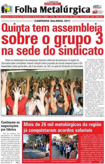 Folha Metalúrgica - Sindicato dos Metalúrgicos de Sorocaba e Região