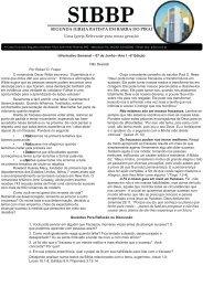 Boletim Informativo edição 6 - Segunda Igreja Batista de Barra do Piraí
