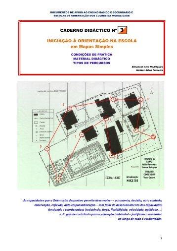 Caderno Didáctico nº 3 - Federação Portuguesa de Orientação