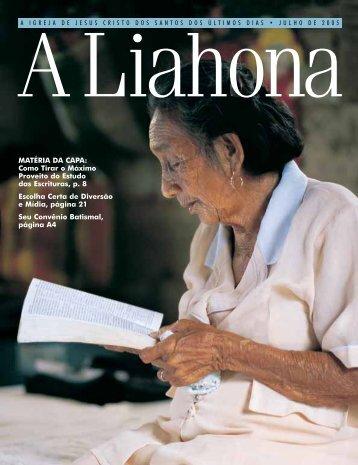 Julho de 2005 Liahona