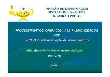 Administração de medicamentos via retal - Ribeirão Preto