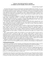 APOGEU E DECLÍNIO DO ESPAÇO AGRÁRIO NO MÉDIO VALE ...