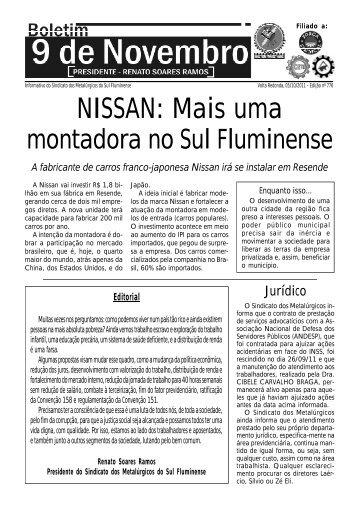 Boletim 776 - Sindicato dos Metalúrgicos do Sul Fluminense
