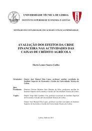 avaliação dos efeitos da crise financeira nas actividades das caixas ...