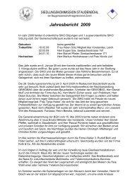 Jahresbericht 2009 - Baugenossenschaft Hagenbrünneli