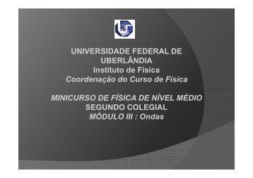 Aula 02 - Módulo III - Ondas.pdf - Instituto de Física - Universidade ...