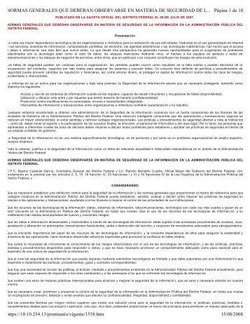Ver - Contraloría General del D.F. - Gobierno del Distrito Federal