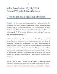 O fim do mundo de Jose luis Peixoto - Eliana Cardoso