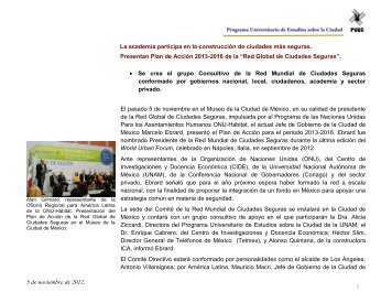 Leer más... - Programa Universitario de Estudios sobre la Ciudad ...