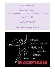 programa regional ciudades seguras: violencia contra las mujeres