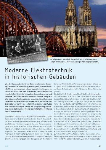 Moderne Elektrotechnik in historischen Gebäuden - Elektro Baeth ...