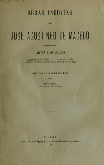 Obras ineditas de José Agostinho de Macedo