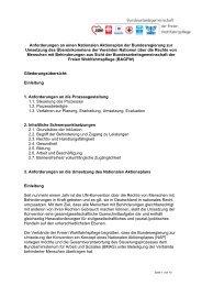 Anforderungen an einen Nationalen Aktionsplan der ...