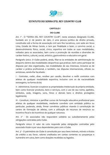 Estatuto - conheça o clube Serra Del Rey