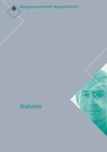 Statuten - Baugenossenschaft Hagenbrünneli