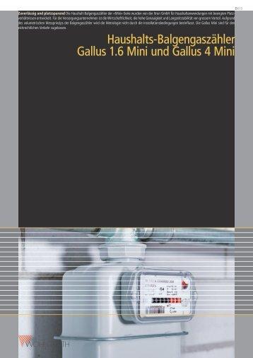 Gallus 1.6 Mini und 4 Mini - Wohlgroth AG