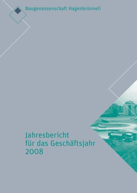 Inhaltsverzeichnis - Baugenossenschaft Hagenbrünneli