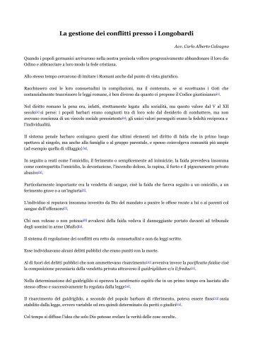 La gestione dei conflitti presso i Longobardi - mediaresenzaconfini