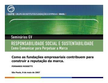 Como as fundações empresariais contribuem para ... - FGV-Eaesp