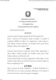Consiglio di Stato sez. IV 4/1/2013 - Appalti e Contratti