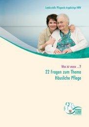Was ist wenn…? 22 Fragen zum Thema Häusliche Pflege - BAGSO