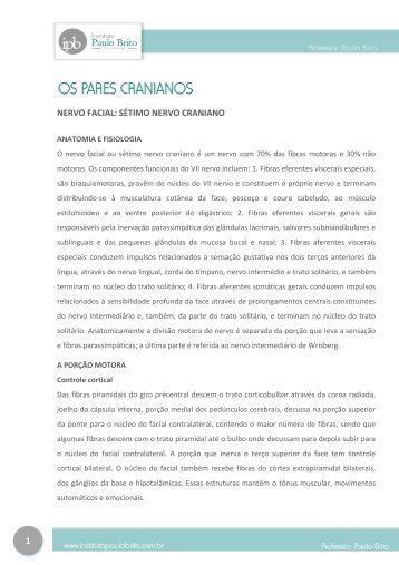 1 NERVO FACIAL: SÉTIMO NERVO CRANIANO - Instituto Paulo Brito