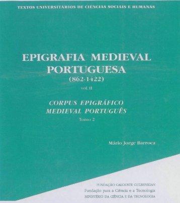 epigrafia medieval portuguesa - Repositório Aberto da Universidade ...